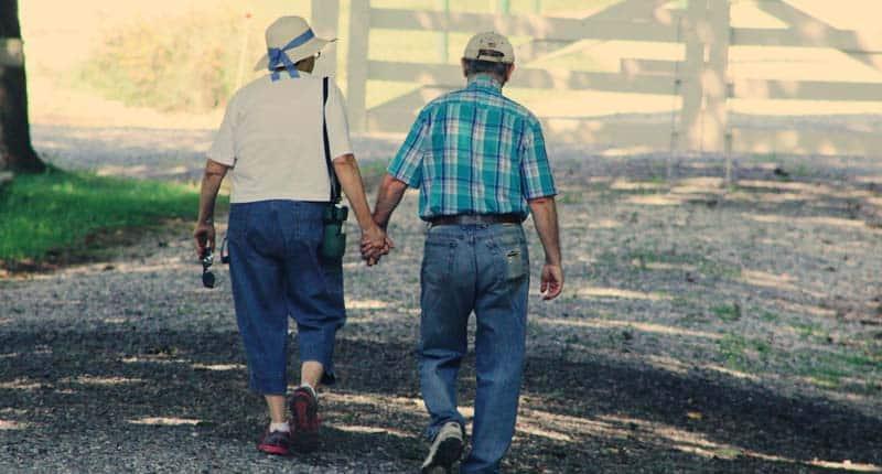 old couple walking jupiter